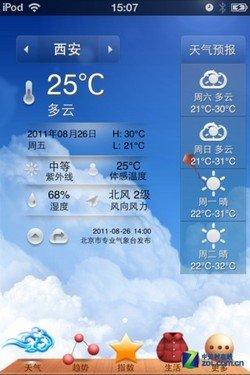 上海及西安天气预报-十一国庆出游iPhone必备软件八款