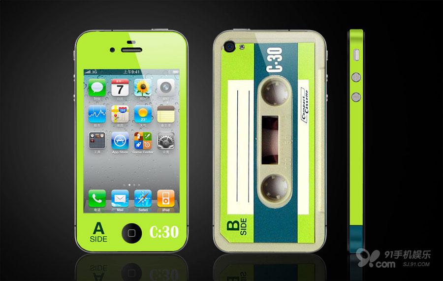 iphone磁带贴膜图赏