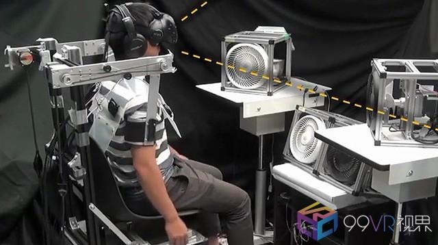 日本团队演示全新VR随动座椅