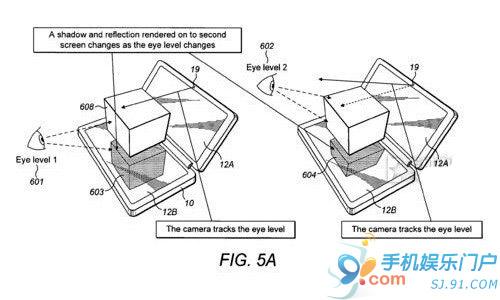 诺基亚新专利曝光 3D双屏虚拟操控