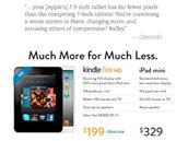 亚马逊高调嘲讽苹果 打出平板对比广告