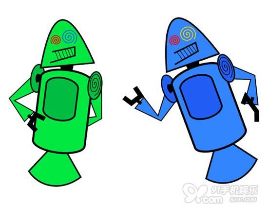 android机器人的logo已经为大家熟知了,然而,你知道最初在设计时,他