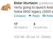 Vertu下个月推首款安卓智能机 售价25000元